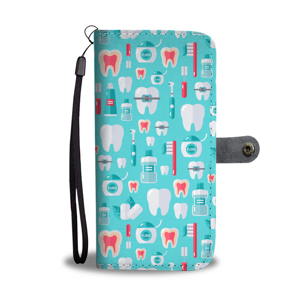 Dentist Pattern Wallet Phone Case
