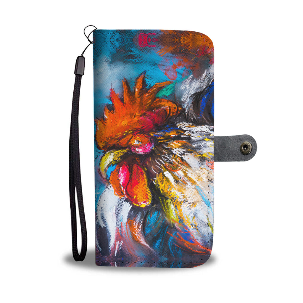 Colorful Chicken Wallet Phone Case