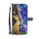 Illustrated German Shepherd Wallet Phone Case