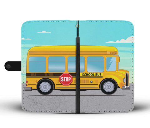School Bus Wallet Phone Case