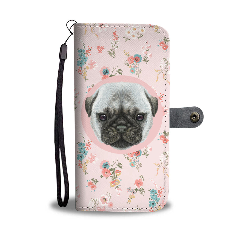 Pug Puppy Wallet Phone Case