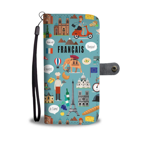 French teacher Wallet Phone Case