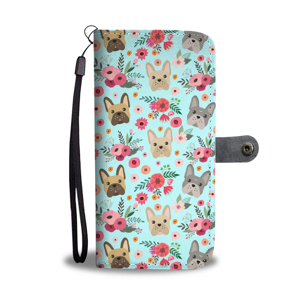French Bulldog Flower Wallet Phone Case