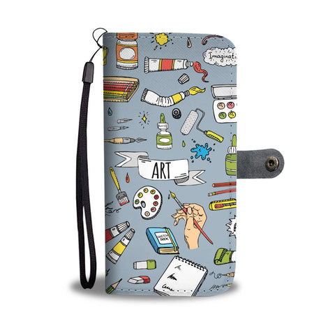 Painter Doodles Wallet Phone Case