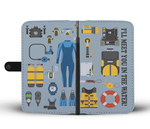 Scuba Equipment Wallet Phone Case