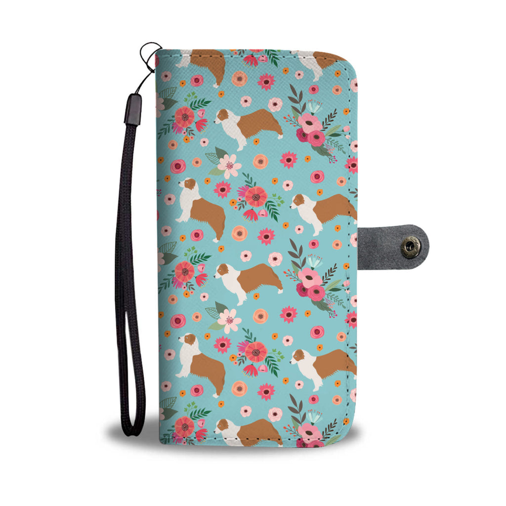 Australian Shepherd Wallet Phone Case