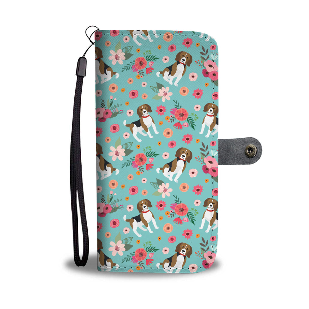 Beagle Flower Wallet Phone Case