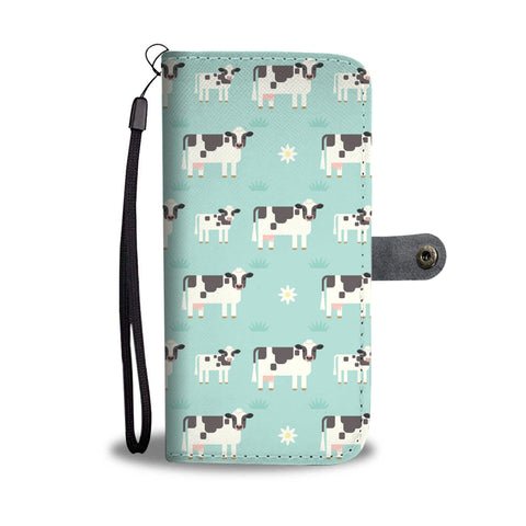 Daisy Cows Wallet Phone Case