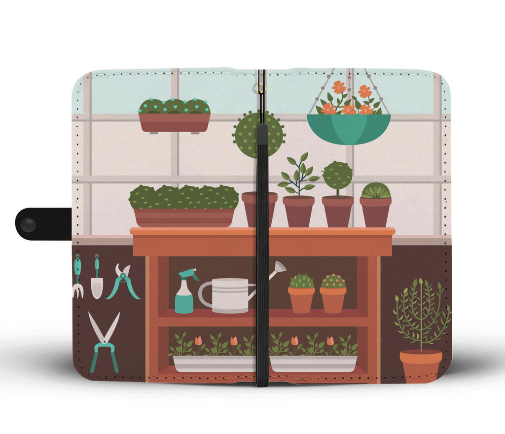 Gardener Greenhouse Wallet Phone Case