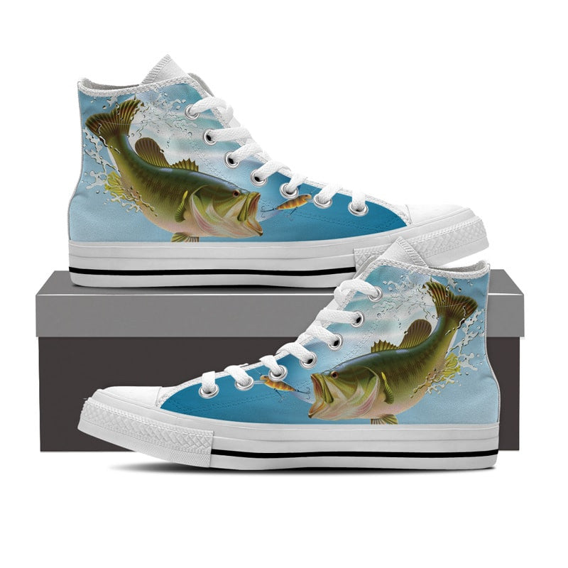 Bass Fishing High Top Shoes