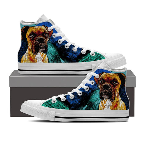 Boxer Dog High Top Shoes