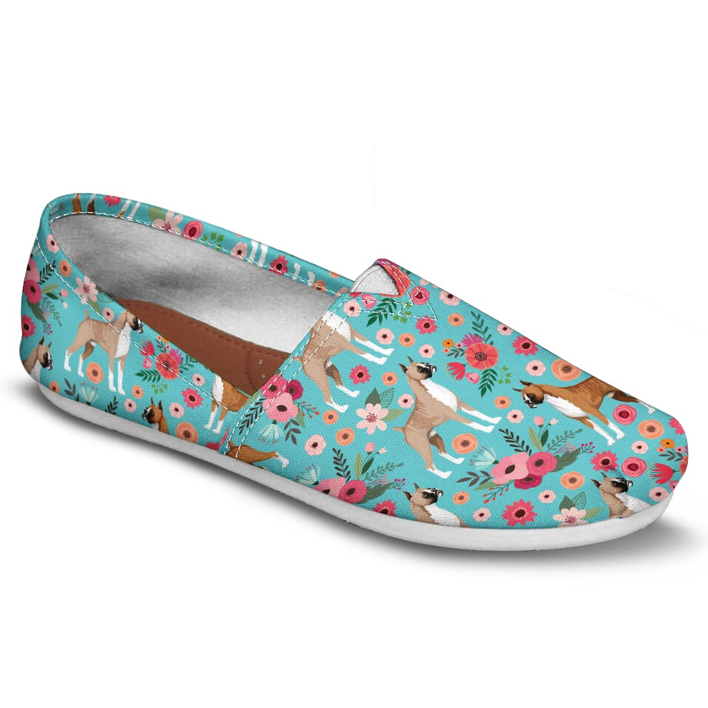 Boxer Floral Casual Shoes-Clearance