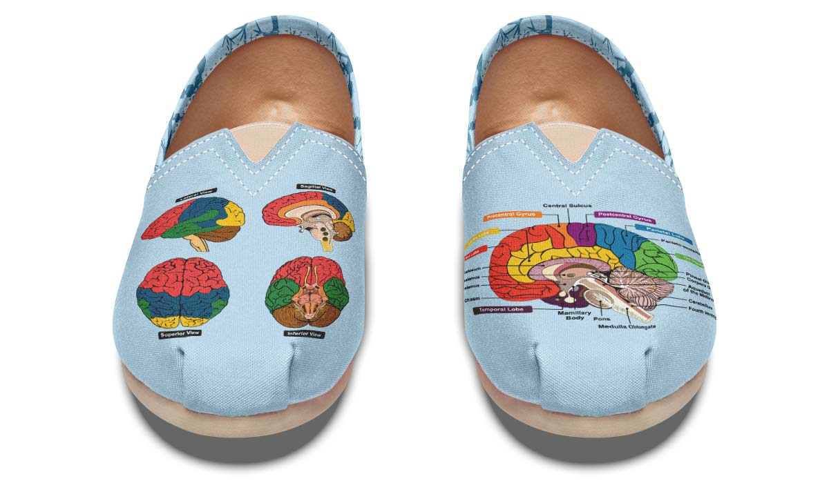 Brain Diagram Casual Shoes - Groove Bags