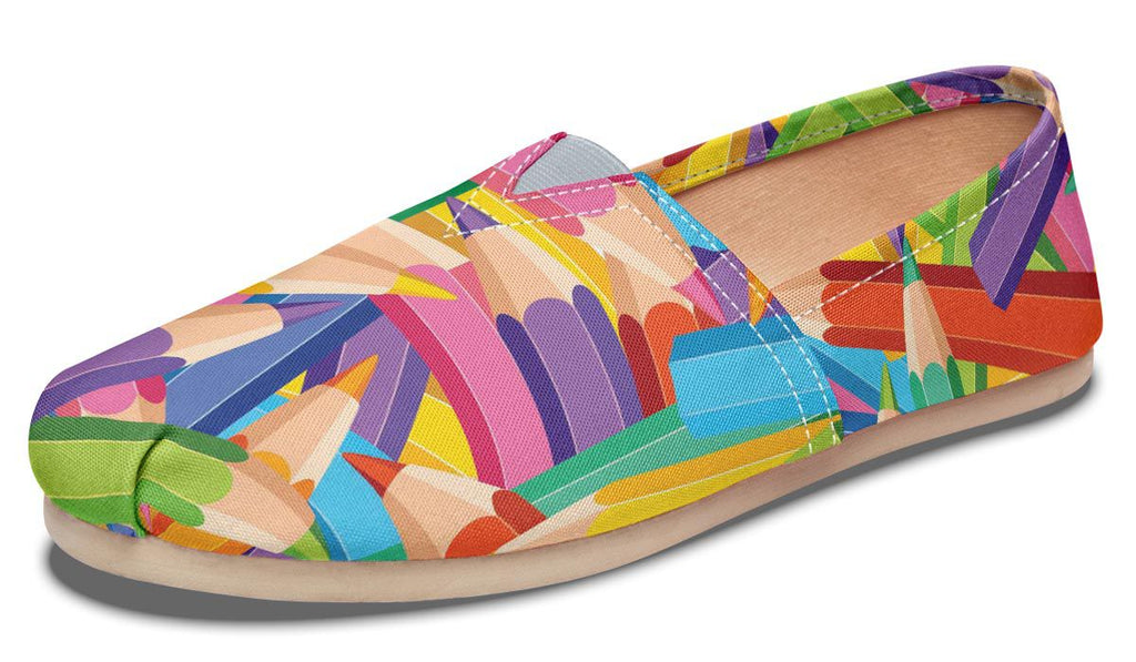 Colorful Pencils Casual Shoes