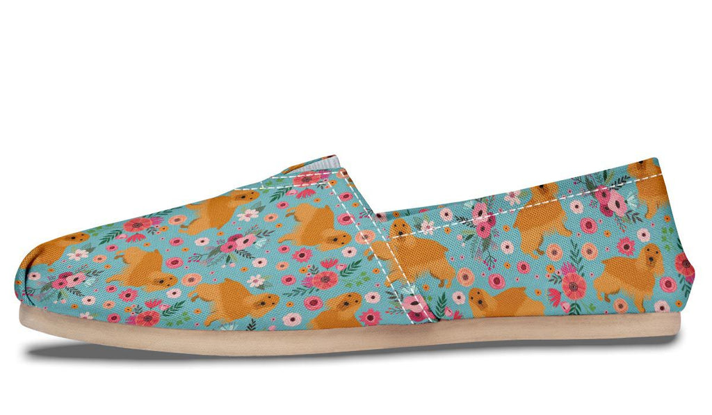 Cocker Spaniel Print Slip Ons Shoes for Women