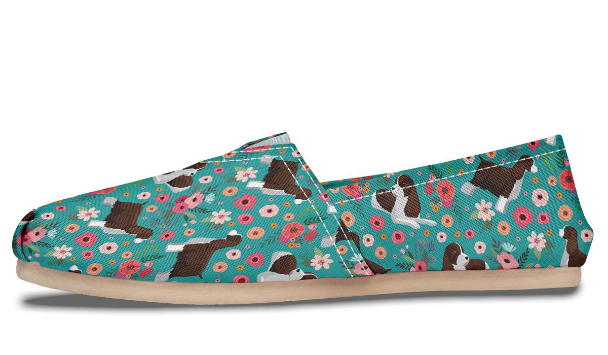 English Springer Spaniel Flower Casual Shoes – Groove Bags