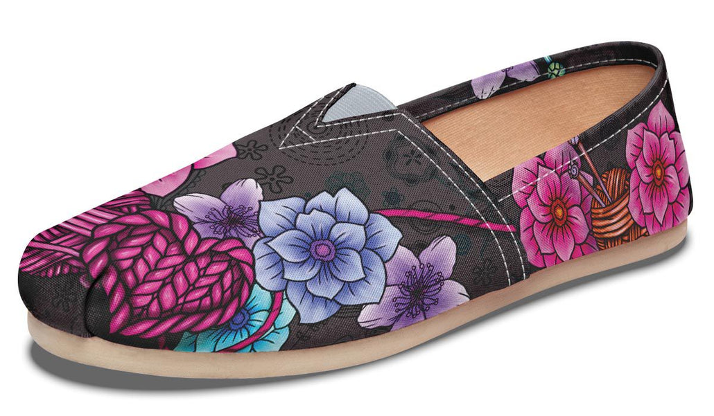 Floral Knitting Casual Shoes