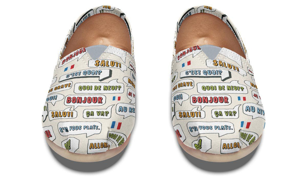 French Phrases Casual Shoes – Groove Bags