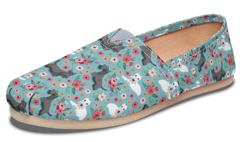 Scottish Terrier Flower Casual Shoes-Clearance