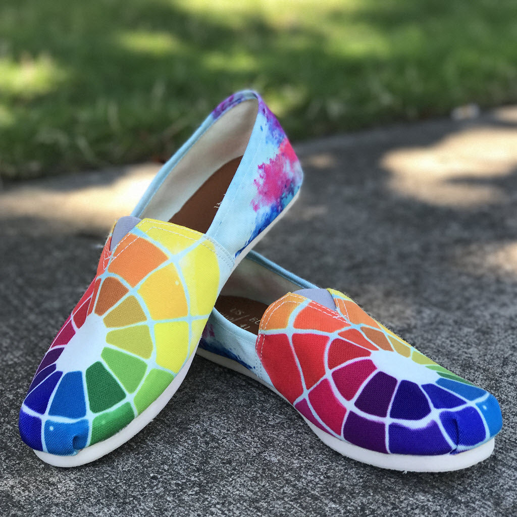 Color Wheel Casual Shoes