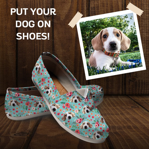 Cute English Shepherd Dog Print Mens Casual Running Shoes