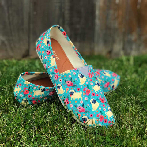 Pug Flower Casual Shoes