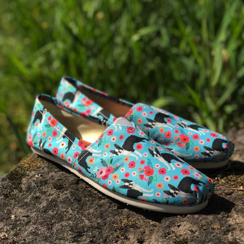 Boston Terrier Flower Casual Shoes