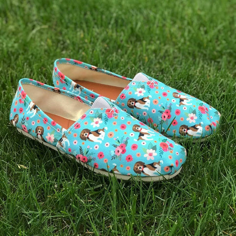 Beagle Flower Casual Shoes