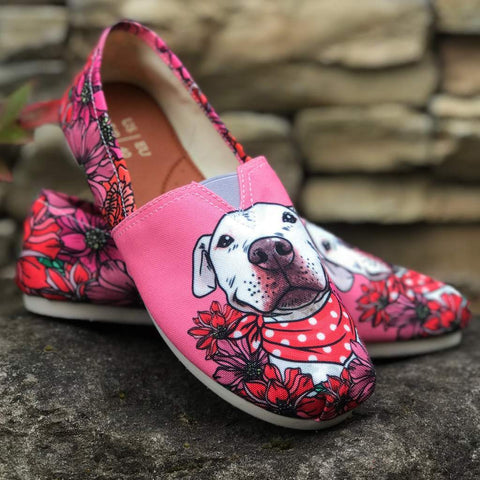 2b08165a84 Illustrated Pit Bull Casual Shoes-Clearance