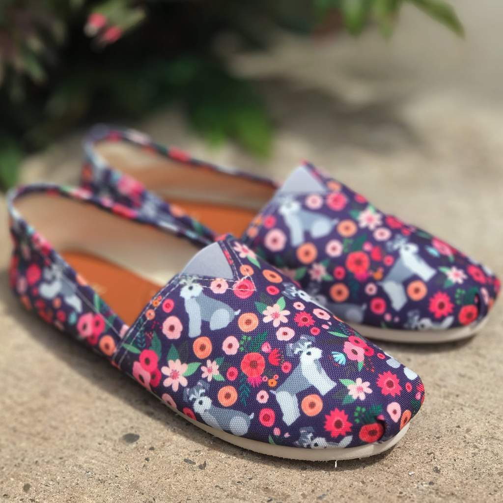 Schnauzer Flower Casual Shoes-Clearance