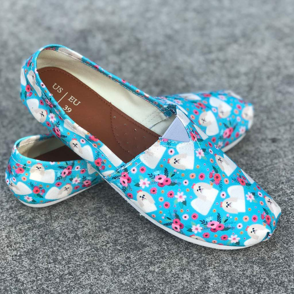 Shih Tzu Flower Casual Shoes