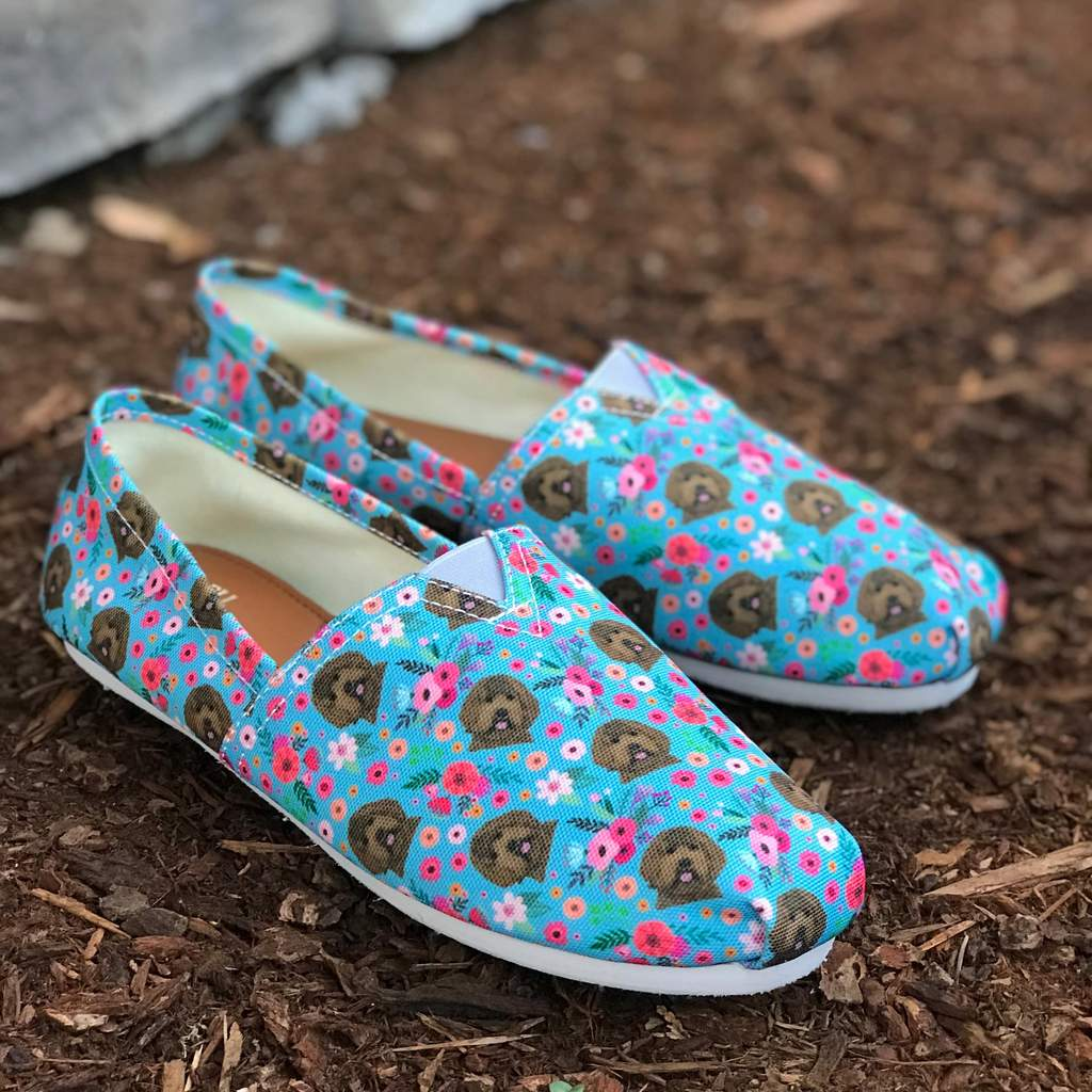 Labradoodle Flower Casual Shoe-Clearance