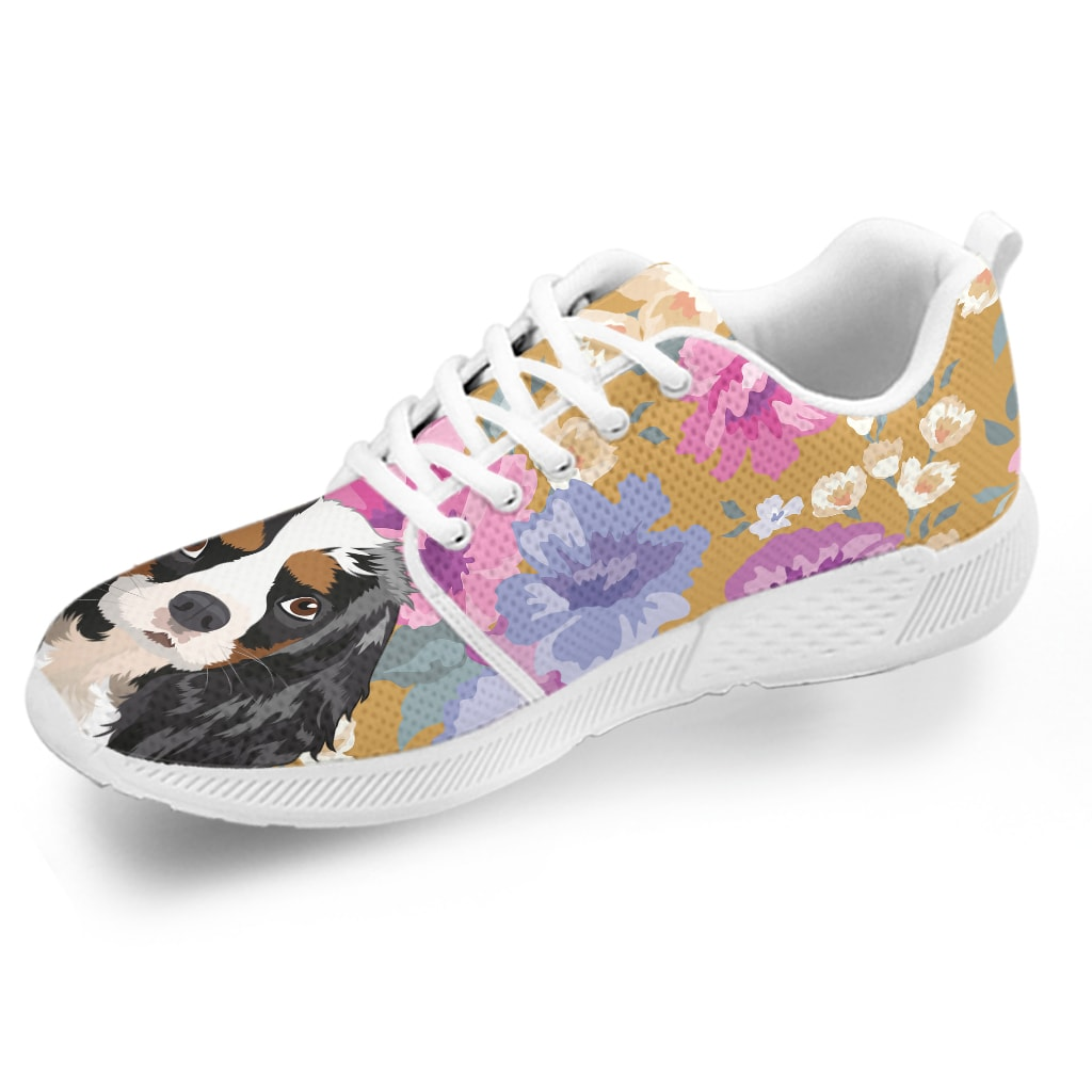 King Charles Spaniel Dog Portrait Athletic Sneakers-Clearance