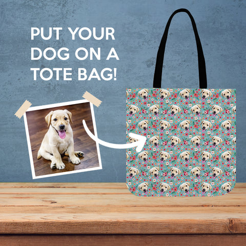 Custom Dog Linen Tote Bag