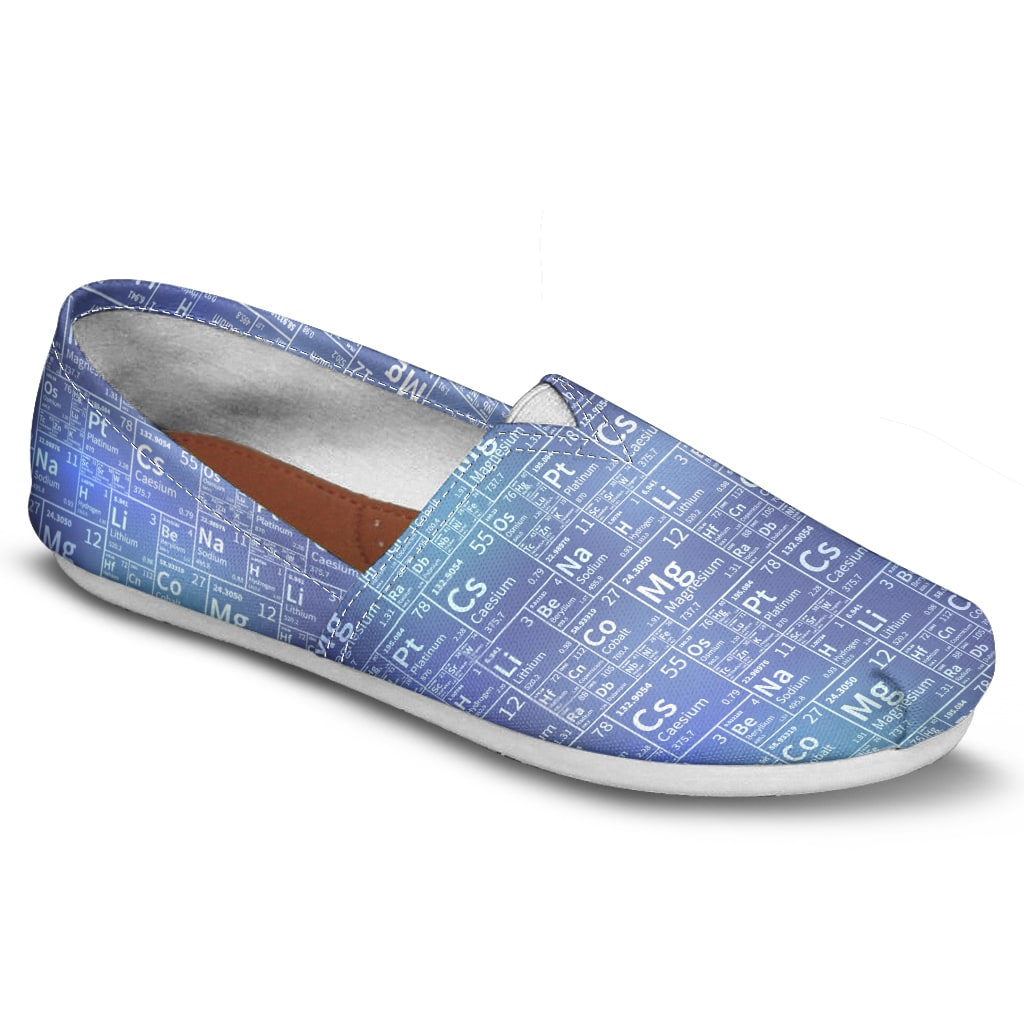 Periodic Table Tile Casual Shoes-Clearance