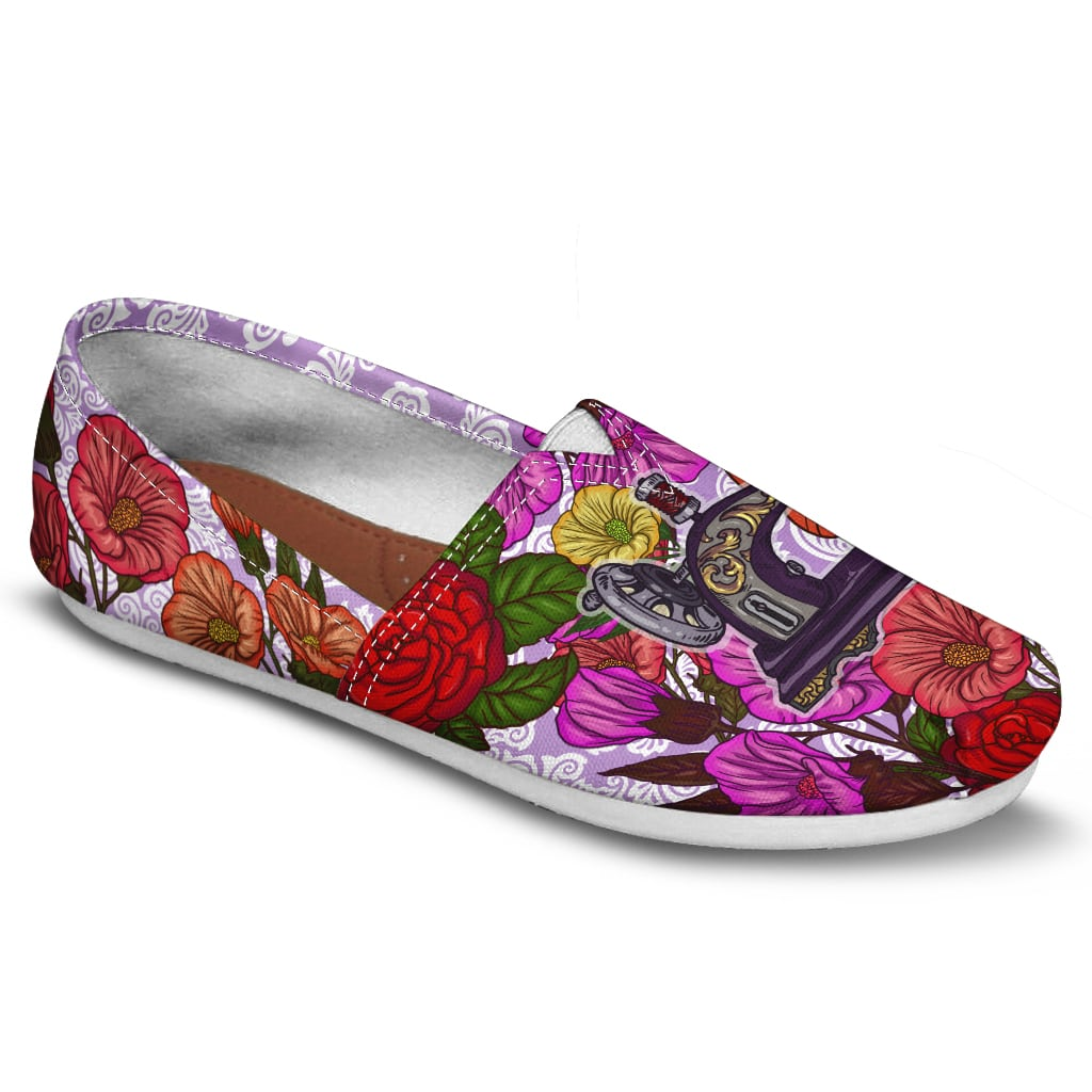 51921d374beec Sewing Machine Floral Casual Shoes-Clearance