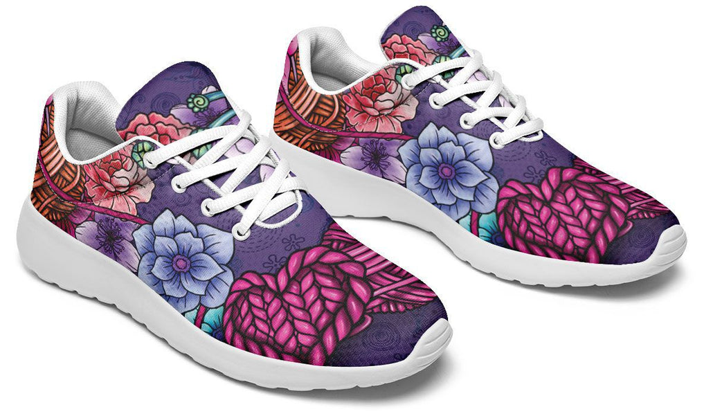 Floral Knitting Sneakers