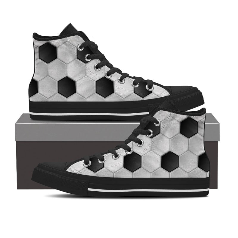 Soccer Pattern High Top Shoe