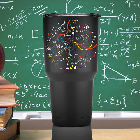 30oz Math Equations Tumbler