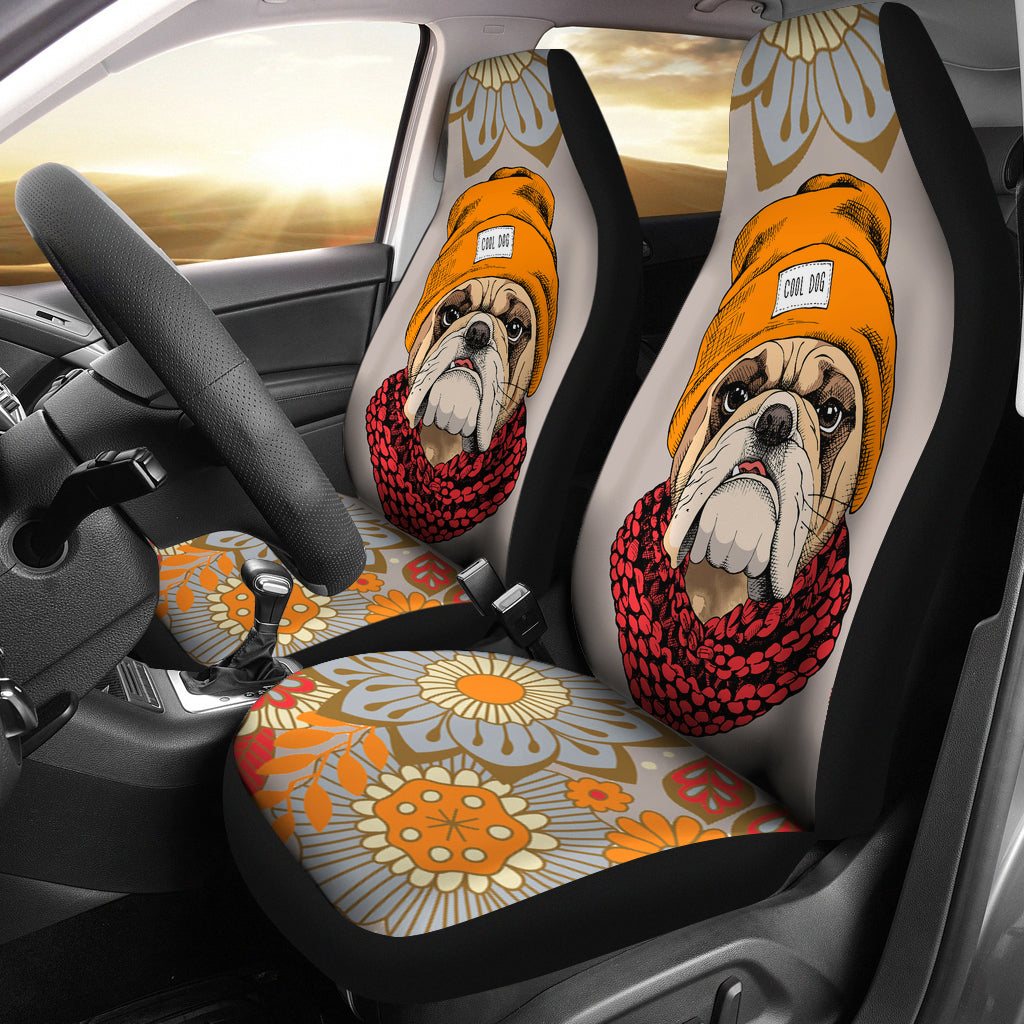 Cool Bulldog Car Seat Covers Groove Bags