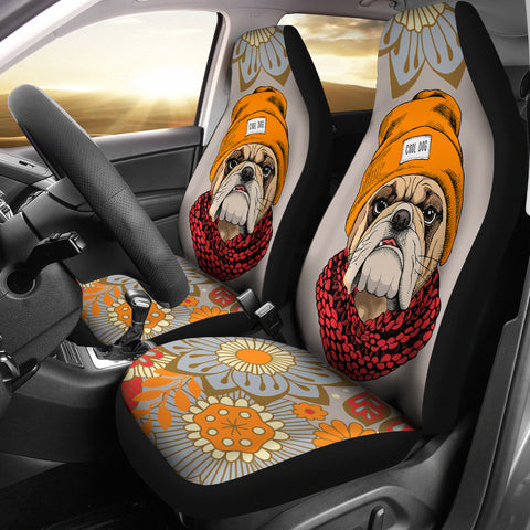 Cool Bulldog Car Seat Covers
