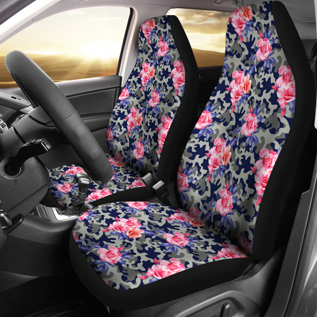 Floral Camouflage Car Seat Covers