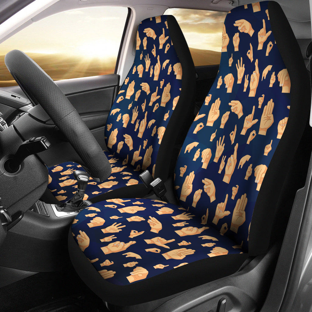 Asl Alphabet Car Seat Covers Groove Bags