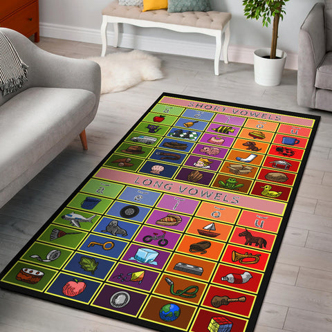 Vowel Chart Area Rug