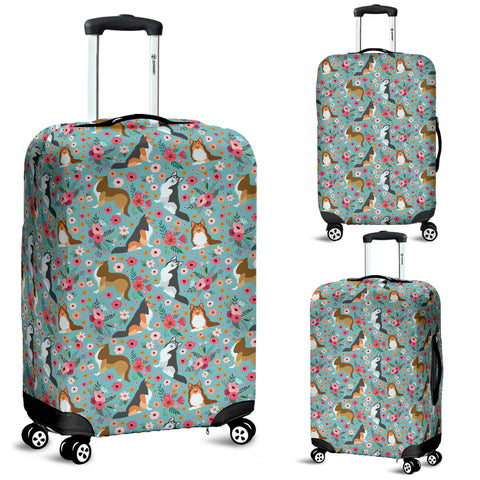 Sheltie Flower Luggage Cover