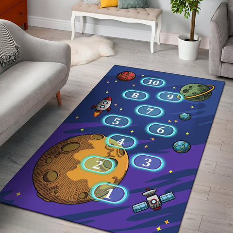 Space Counting Area Rug