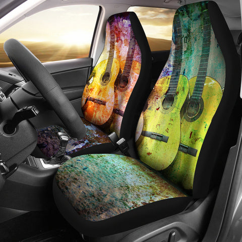 Rainbow Guitar Car Seat Covers