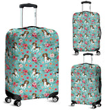 Beagle Flower Luggage Cover