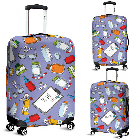 Pharmacy Pattern Luggage Cover