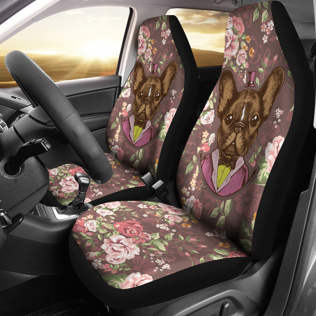 Fancy French Bulldog Car Seat Covers
